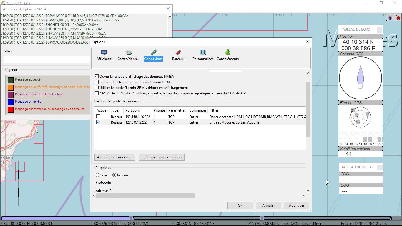 NMEA Vessel Simulator in Java / Tickets / #4 OpenCPN 4 8 8 doesn't