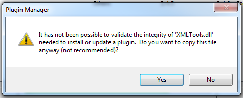 "alt=""Xml Tools installation error"""