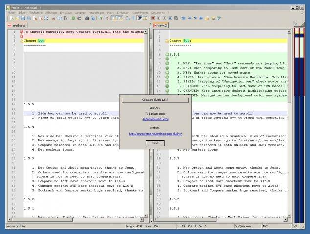Notepad++ Compare plugin / Wiki / Home