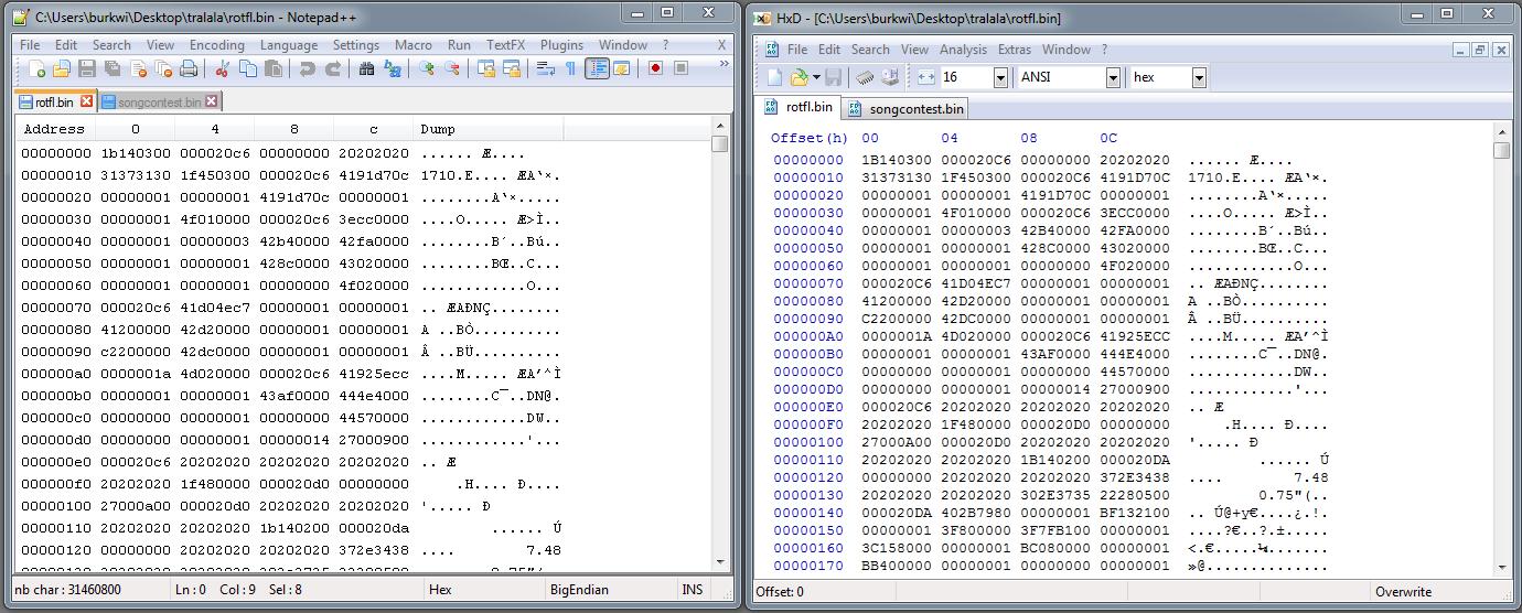 Notepad++ Plugins / Bugs / #188 Hex Editor shows garbage