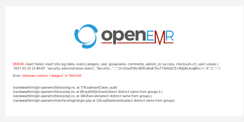 OpenEMR / Discussion / Developers:OpenEMR 5 0 0