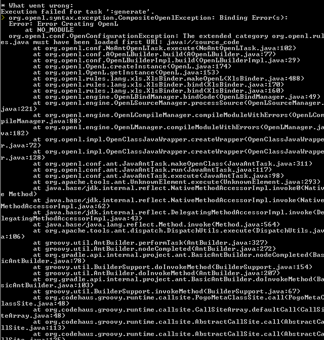 OpenL Tablets / Discussion / Help:Problem in Generating Datatype