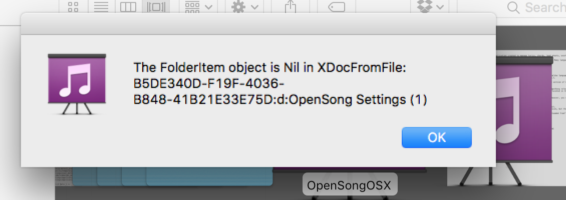 OpenSong / Support Requests / #165 The folderitem object is Nil