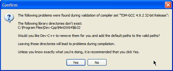 Dev-C++ / Tracker / #155 Dev-C++ 5 11 not configured