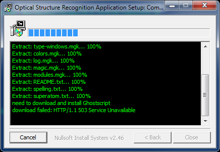 osra / Support Requests / #3 Can't install osra-setup-1-4-0