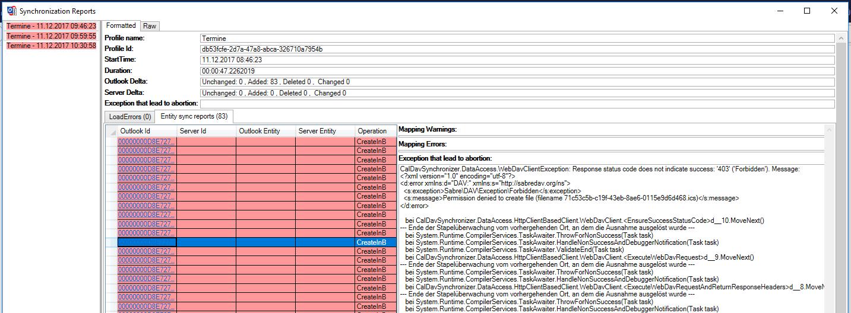 Outlook CalDav Synchronizer / Tickets / #773 Sync error in Outlook