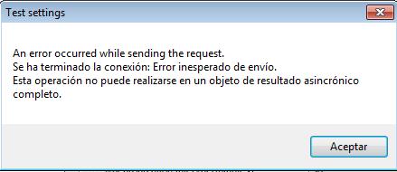 Outlook CalDav Synchronizer / Tickets / #137 test settings error