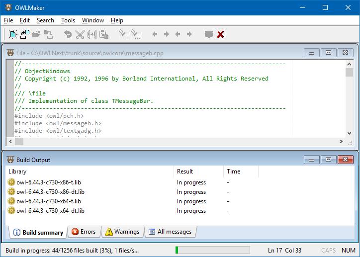 OWLNext: C++ Application Framework / Wiki / OWLMaker