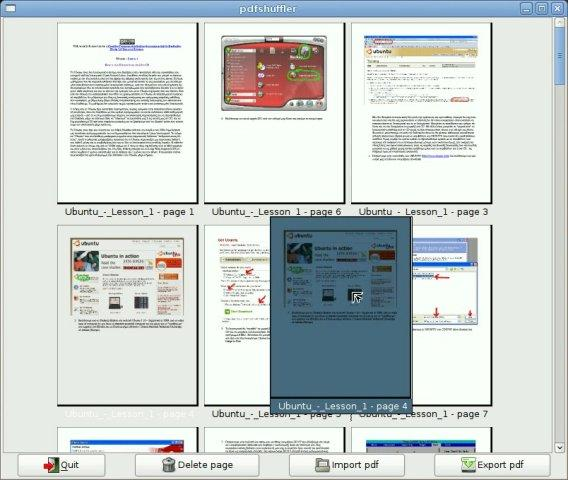 Screenshot of PDF-Shuffler