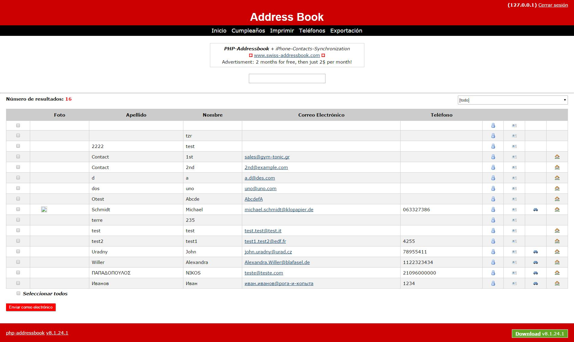 PHP Address Book Feature Requests 97 HTML5CSS3 Responsive – Address Book Example