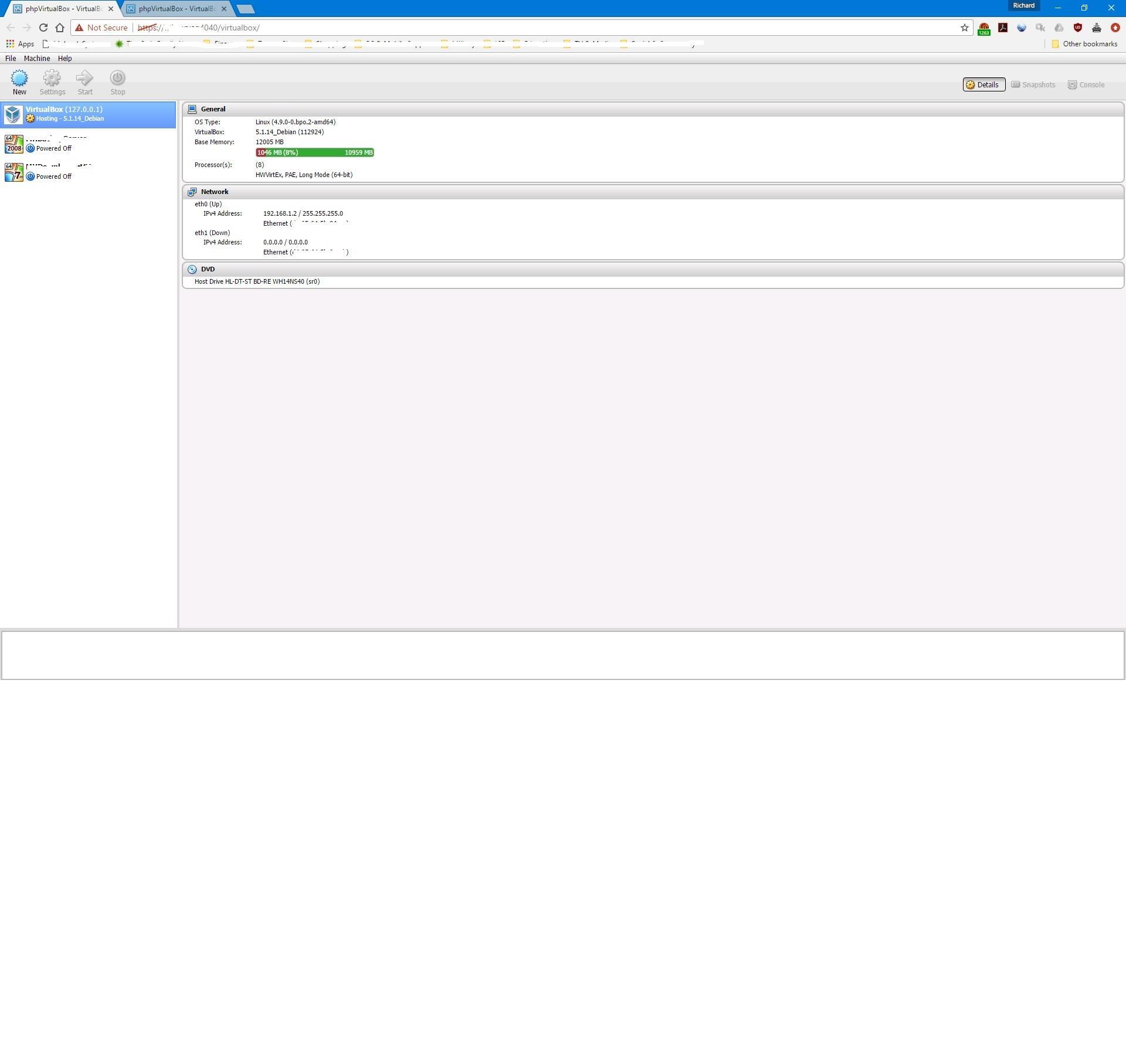 phpVirtualBox / Bugs / #64 SOAP Error Using VirtualBox 5 1