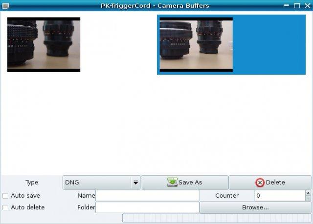 pktriggercord camera buffers