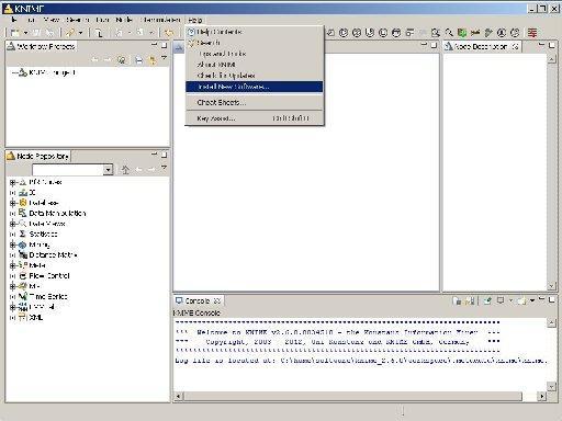 Install new software menu item