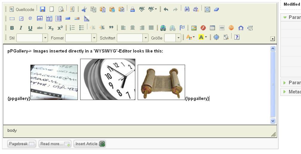 pPGallery / Wiki / Example (wysiwyg-editor)