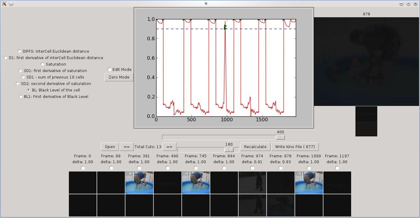 pyShotDetect Startup Screen