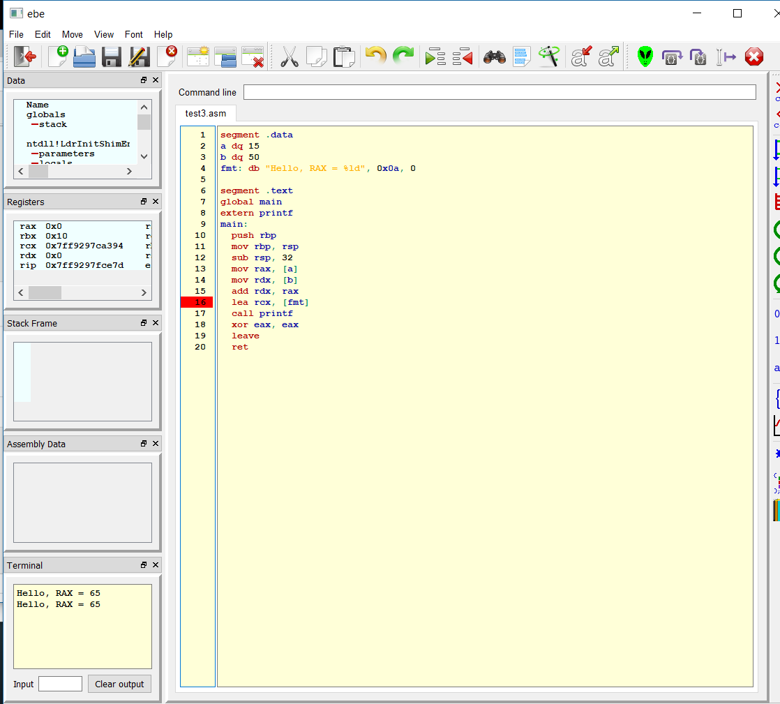Easy Beginner's Environment in QT / Tickets / #24 ebe