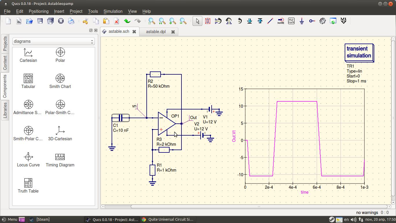 Astable Multivibrator Wikipedia Capacitor Free Running Circuit Diagram Tradeoficcom Quite Universal Simulator Discussion Help