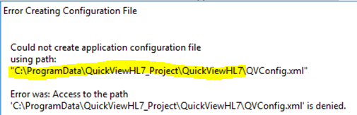 QuickViewHL7 (HL7 file viewer/editor) / Bugs / #6 Win10