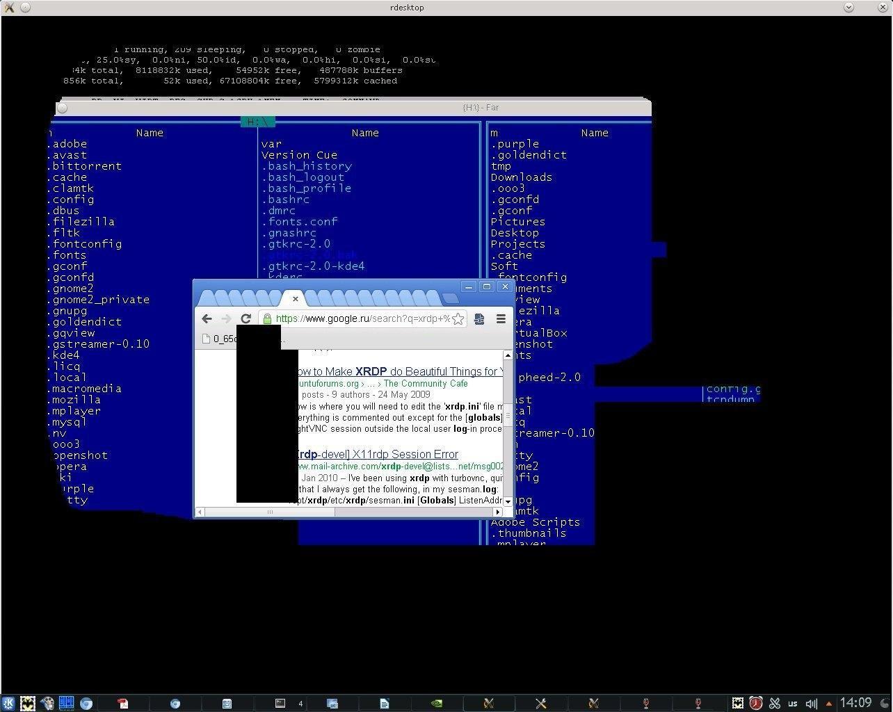 rdesktop / Bugs / #361 Black screen when switching from Full