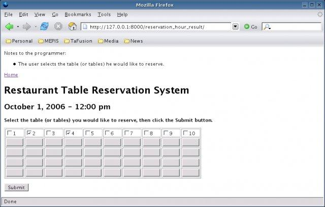 Restaurant Table Reservation System Wiki Home - Table booking system