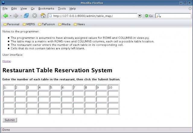 Restaurant Table Reservation System Wiki Home - Table reservation system