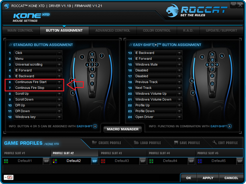 roccat / Discussion / Help: Macro repeat whilst holding?