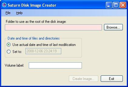 Screenshot from Saturn disk image creator
