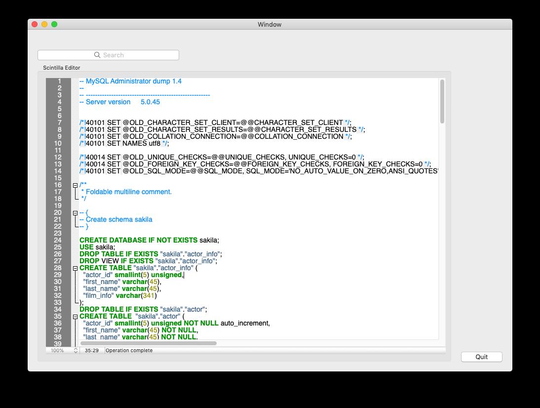 Scintilla / Bugs / #2022 [macOS Mojave] Scintilla, editor