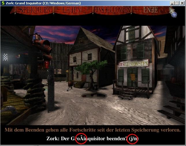 ScummVM / Bugs / #6760 ZVISION: German version of ZGI doesn