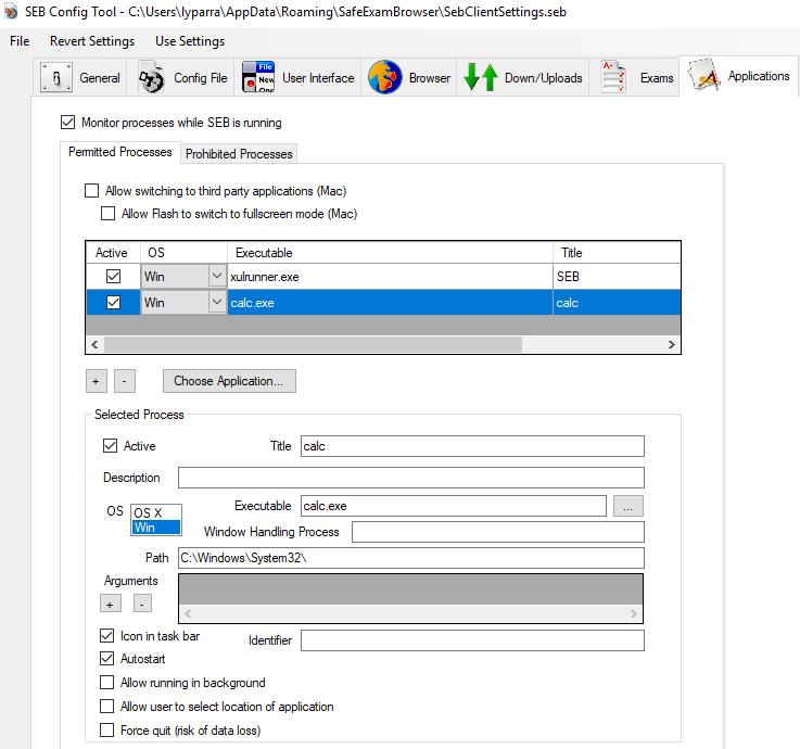 Safe Exam Browser / Discussion / Help:calculadora de windows 10 no