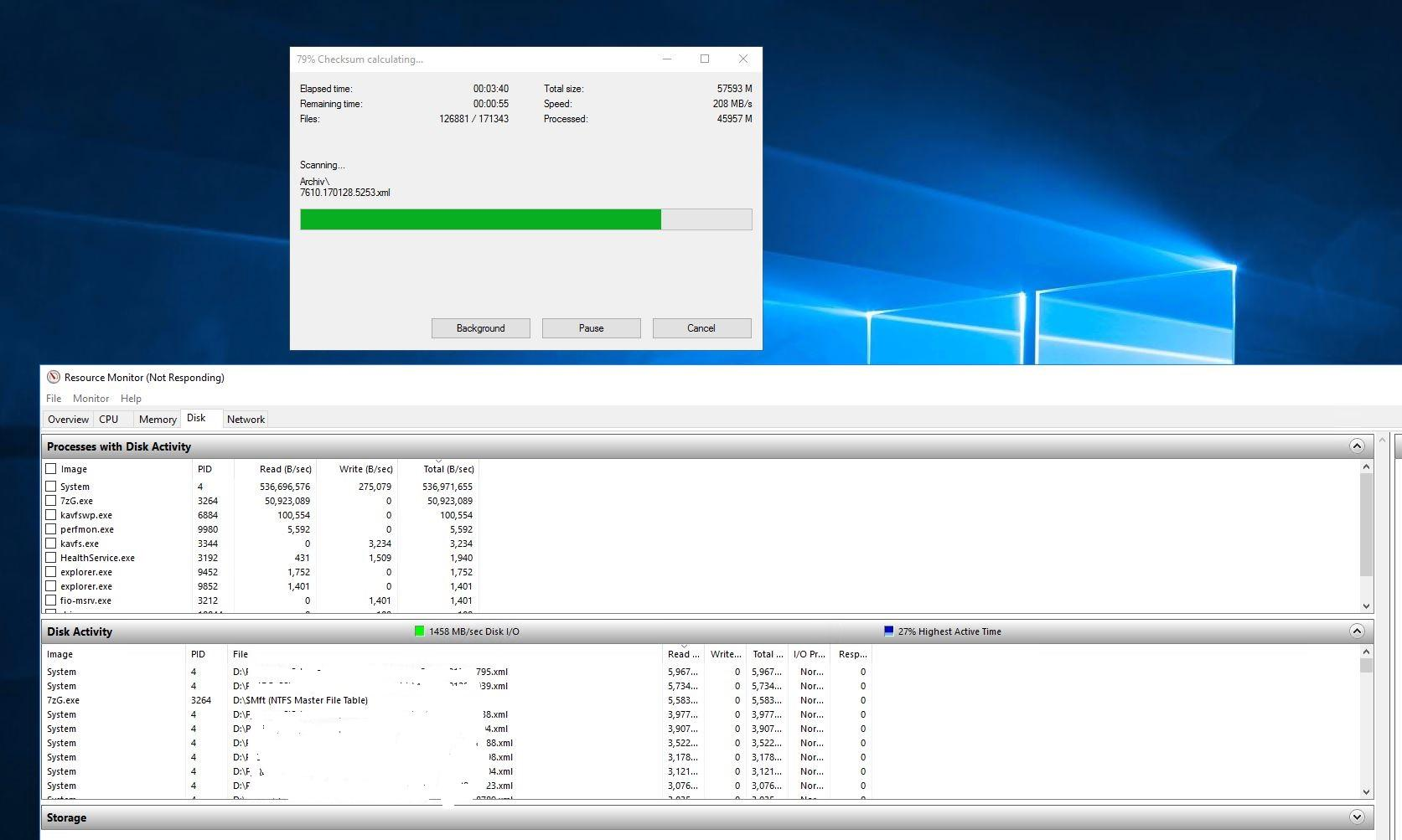 7-Zip / Discussion / Open Discussion: Performance drop when