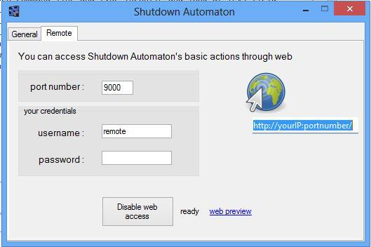 Shutdown Automaton / Wiki / Remote Web Access
