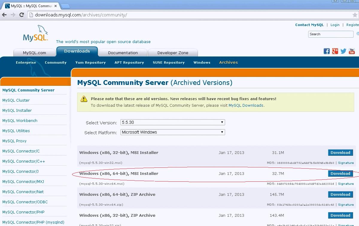 StrongKey CryptoEngine / Wiki / How to Install MySQL Server 5 5 30