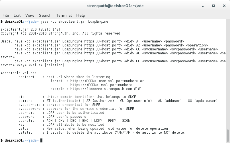 StrongKey CryptoEngine / Wiki / Test SKCE 2 0 Using a Client