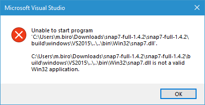 Snap7 / Discussion / Bugs reporting:[ERROR]: snap7 dll is