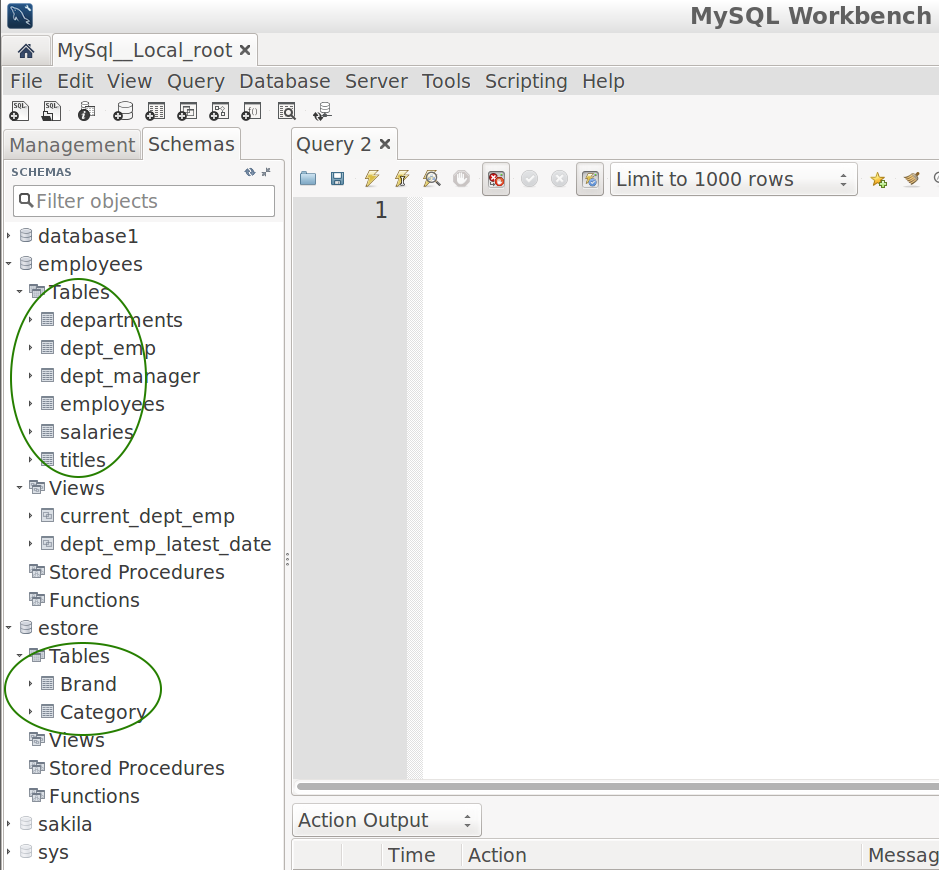 SQuirreL SQL Client / Bugs / #1315 MySQL: in Object View and root