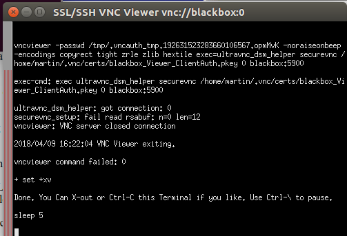 SSVNC / Bugs / #10 No secure VNC connection possible