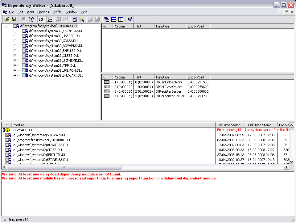 stefanstools / Tickets / #21 StExBar64 does not install