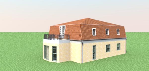 sweet home 3d 3d models 306 mansarde roof. Black Bedroom Furniture Sets. Home Design Ideas