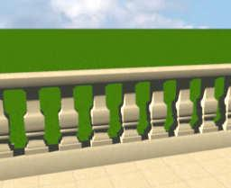 sweet home 3d 3d models 353 ornamental stone railing. Black Bedroom Furniture Sets. Home Design Ideas