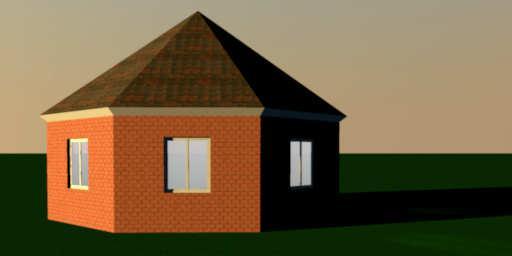 sweet home 3d 3d models 372 roof octagon. Black Bedroom Furniture Sets. Home Design Ideas