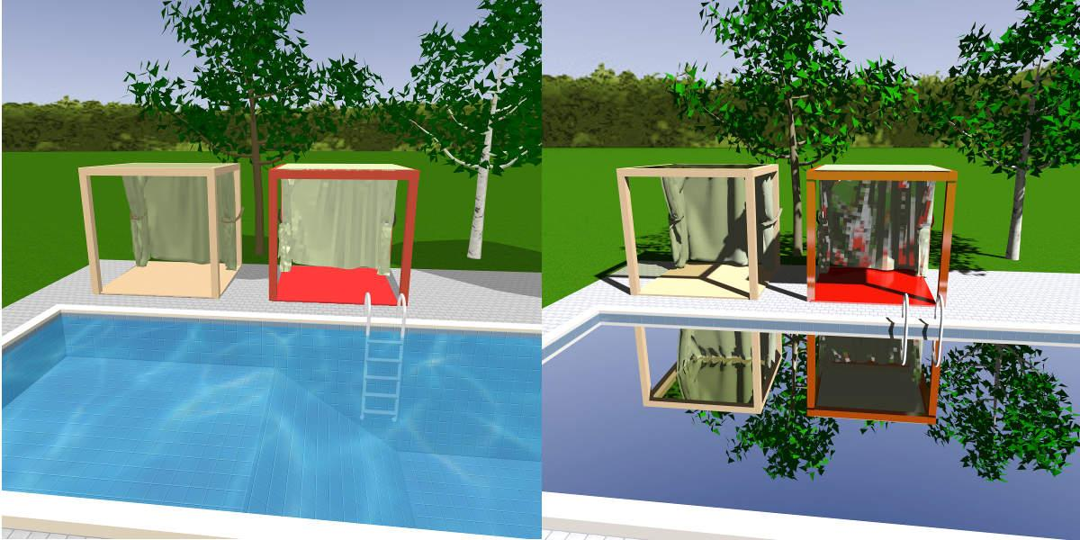 Sweet Home 3d 3d Models 480 Cabana Pool Side Cabana