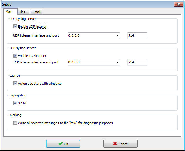 how to create syslog server windows 2008