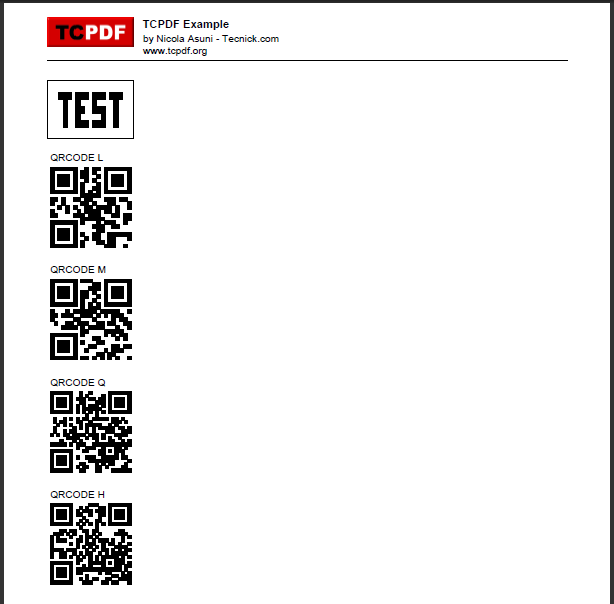 TCPDF - PHP class for PDF / Bugs / #354 2D Barcode - Random result