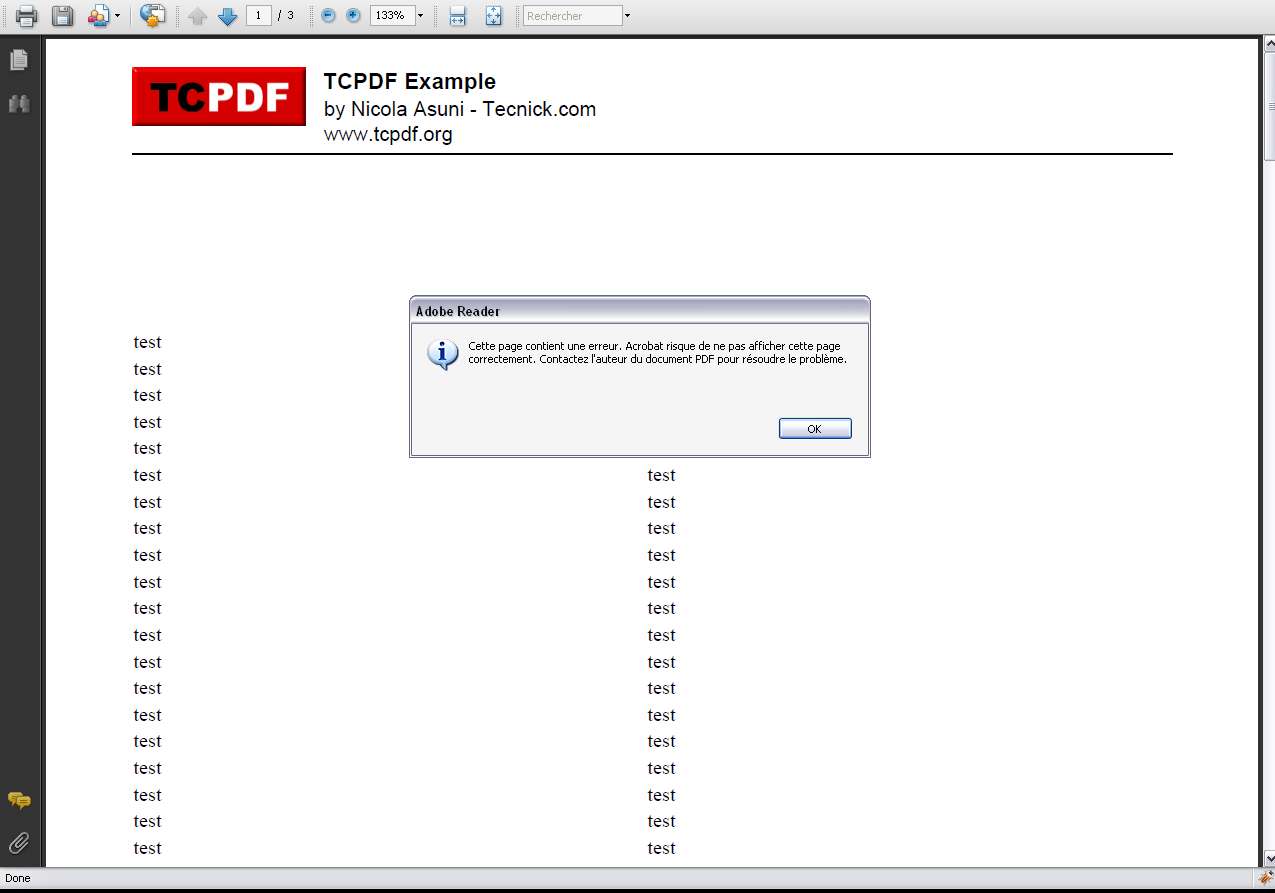 TCPDF - PHP class for PDF / Bugs / #182 Bug writeHTML of a table in