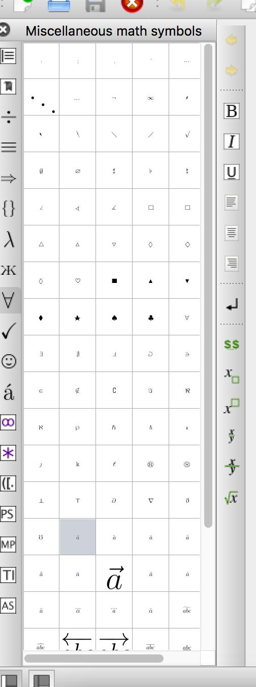Texstudio A Latex Editor Bugs 1521 Miscellaneous Math Symbols