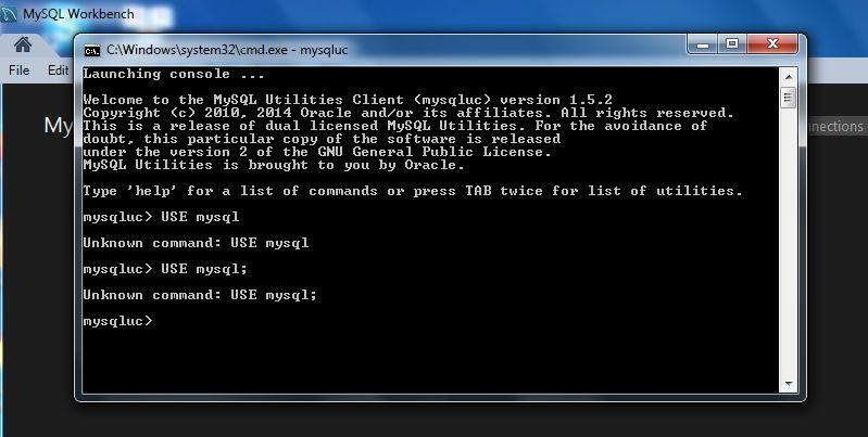 how to get in to the mysql command line