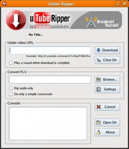 Download and convert Youtube videos in linux with Utube Ripper