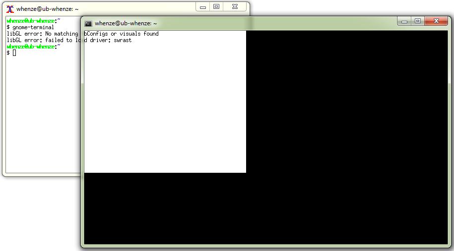VcXsrv Windows X Server / Bugs / #57 gnome-terminal window display