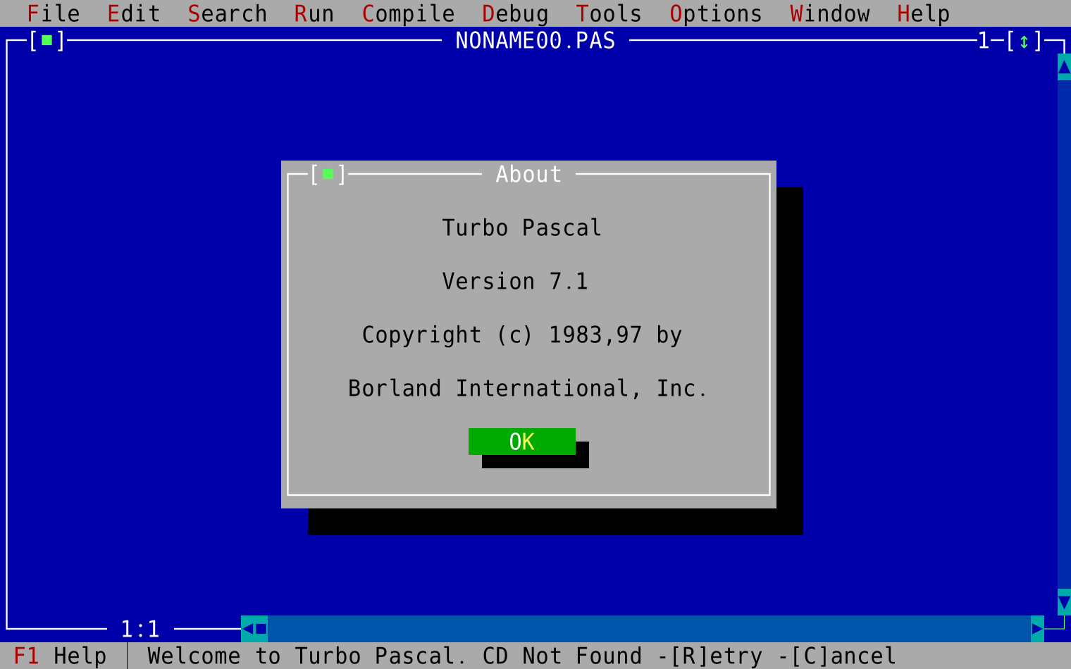 vDos / Discussion / General:Problems with old Turbo Pascal programs